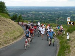 Struggling Ditchling cyclists