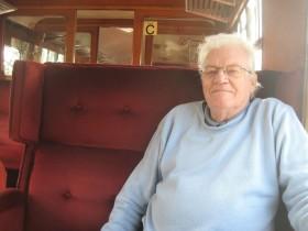 Dad on train