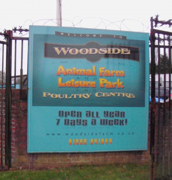 woodside animal farm follow the brown signs