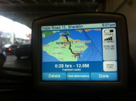 Sat nav from ferry