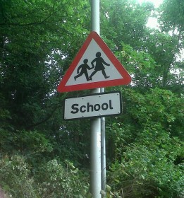 Post-worboys school sign