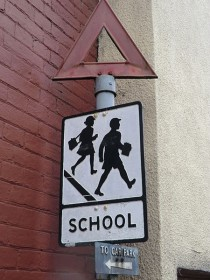 Pre-worboys school sign